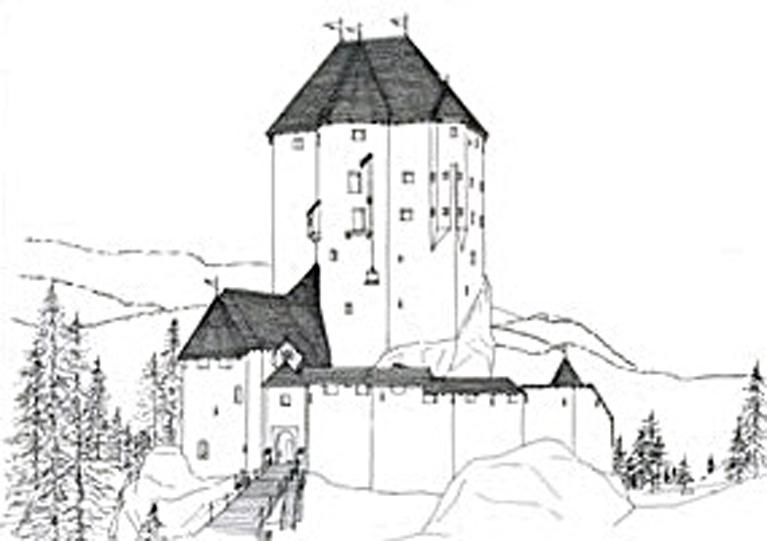 Disegni di castelli per bambini mole with disegni di for Disegni casa castello